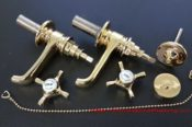 Gold Plated Basin Taps 31872660316 L