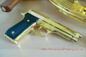 Gold Plated Beretta F 7783658040 L