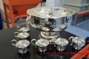 Punchbowl And Cups In Silver Plate 31762007712 L
