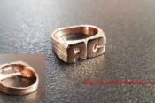 Silver Ring Rose Gold 29955536754 L