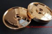 Two Gym Weight Discs In Gold Plate 29423667554 L