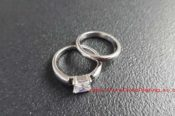 Two Platinum Plated Rings 29664051731 L