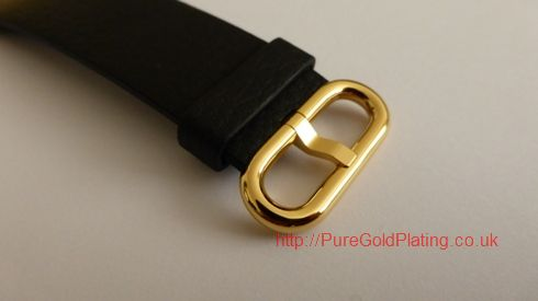 gold plated apple watch